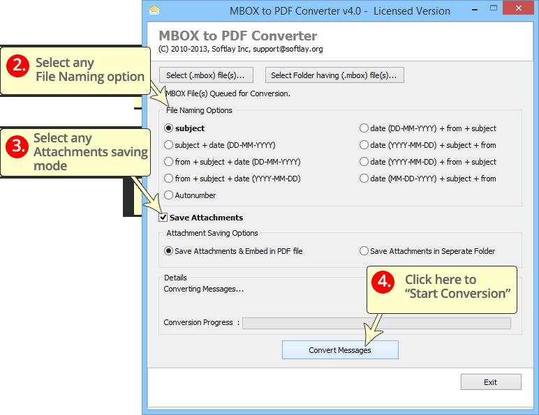 MBOX to PDF 4.0 full